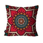 Almofada Decorativa Avulsa Vermelha Mandala
