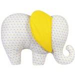 Almofada Decorativa Elefante Triângulo Amarelo
