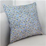 Almofada Decorativa Girafa Azul 100% Algodão