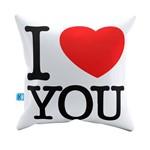 Almofada Decorativa I Love You Heart Pelúcia 40x40 Almofadageek