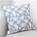 Almofada Decorativa Losango Azul 100% Algodão