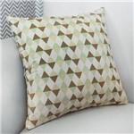 Almofada Decorativa Losango Verde 100% Algodão