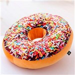Almofada Decorativa Rosquinha Magma Donut Granulado Chocolate