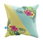 Almofada Decorativa Summer With Tropical Flowers Pelúcia 40x40 Almofadageek