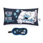 Almofada e Mascara Smurfs - eu Amo Você - Rosa - Ludi