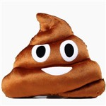 Almofada Emoji Cocozinho 38cm Pelúcia