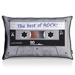 Almofada Fita Cassete Best Of Rock - Fundo Preto