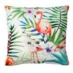 Almofada Flamingo Flores Natureza