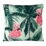 Almofada Flamingos Verde
