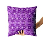 Almofada Flower Purple Withe
