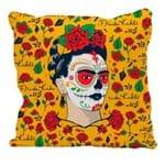 Almofada Frida Kahlo Caveira Mexicana