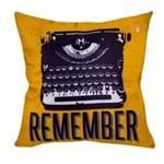 Almofada Retro Remeber Lembre-se Maquina de Escrever Vintage