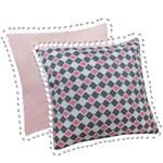 Almofada Rosa e Geométrico 2 Peças