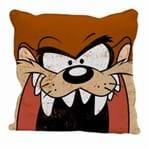 Almofada Rosto Taz Marrom Looney Tunes