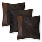 Almofadas Kit C/ 3 Courino Suede + Enchimentos 45X45