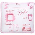 Almofadinha Preciosa com Caneta para Escrever as Informações do Bebê - Feminino