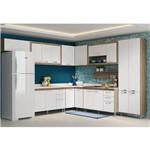 Ambiente Modulado para Cozinha com Balcão para Pia 120 Cm Toscana Argila com Branco - Multimóveis