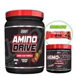 Amino Drive 200g + Hemorage 171g Nutrex + Barra de Proteína