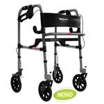 Andador de Alumínio com 4 Rodas e Assento - Mercur - Cód: Bc1550