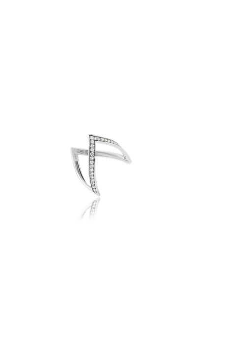 Anel Arial Branco com Diamante Ttlb - 17