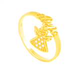 Anel em Ouro 18K Anjo com Diamantes - AU4257 - 17