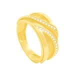 Anel em Ouro 18K com Filetes de Diamantes - AU3751