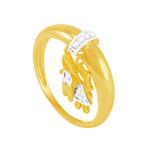 Anel em Ouro 18K com Pingente Casal - AU6014