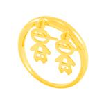 Anel em Ouro 18K Dois Meninos - AU5164