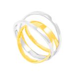 Anel em Ouro 18K Duplo Bicolor - AU5000