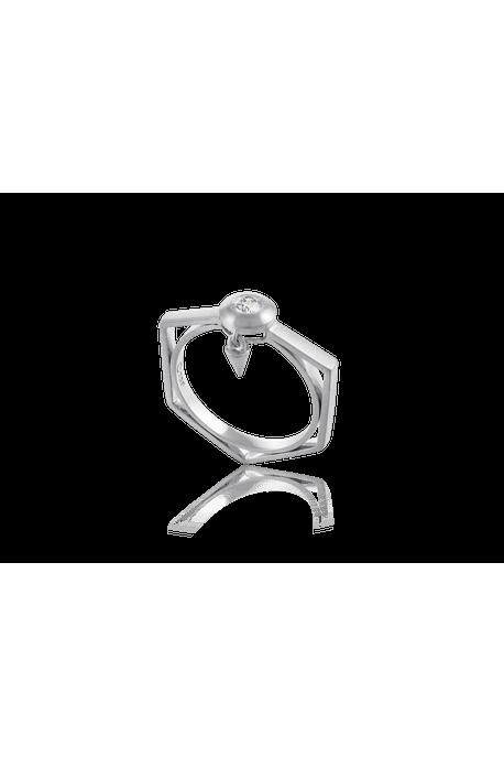 Anel Solitario Lights Ob com Diamante Branco - 17