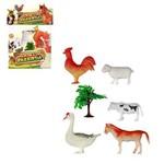 Animais da Fazenda de Plástico 7 Peças - Well Kids