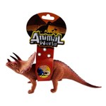 Animal World Dinossauro com Som 25 Cm - Triceratops - Buba
