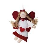 Anjo Decoração Natal 17x12cm Vermelho
