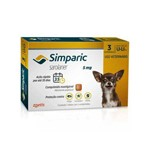 Anti Pulgas Simparic 5 Mg para Cães 1,3 a 2,5 Kg 3 Pipetas