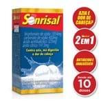 Antiácido Analgésico Sonrisal Tradicional 2 em 1 para Azia e Dor de Cabeça Gsk 10 Comprimidos Efervecentes