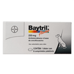 Antimicrobiano Baytril Flavour 250mg - 6 Comprimidos Antimicrobiano Baytril Flavour 250mg - 6 Comprimidos