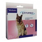 Antipulgas Effipro Cães Combo 4 Pipetas 20 a 40kg