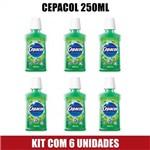 Antisséptico Bucal Cepacol Menta 250ml - Kit com 6 Unds