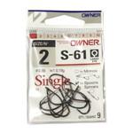 Anzol Owner Single Hook S-61 #02 - 9pç