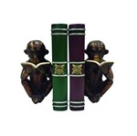 Aparador de Livros Macaco com Livro Cobre