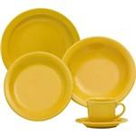 Aparelho de Jantar 30 Peças Cerâmica Amarelo - Oxford Daily