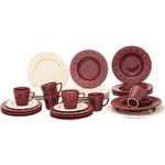 Aparelho de Jantar 30 Peças Cerâmica Mendi Corvina/Marfim Exclusivo - Orb By Oxford Porcelanas
