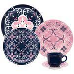 Aparelho de Jantar 30 Peças Cerâmica Oxford Floreal Hana