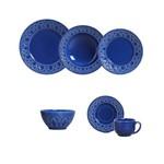 Aparelho de Jantar 30 Pecas Cestino Azul Navy Mais 6 Bowls Porto Brasil