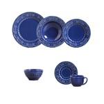 Aparelho de Jantar 30 Pecas Esparta Azul Navy com 6 Bowls Porto Brasil
