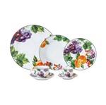 Aparelho de Jantar 42 Peças de Porcelana Colorido Fruit Wolff