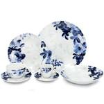 Aparelho de Jantar 42 Peças Porcelana Limoges Eden Bleu Wolff