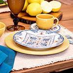Aparelho de Jantar Amarelo Girassol 42 Peças - La Cuisine