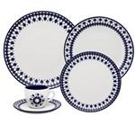 Aparelho de Jantar Coup Chess 30 Peças Branco e Azul