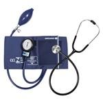 Aparelho de Pressão Bic Adulto Nylon Velcro Azul + Esteto Inox Std Preto